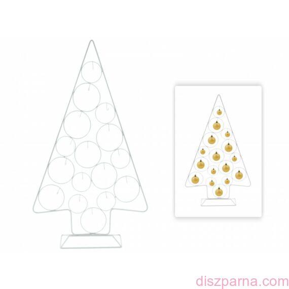 Fehér karácsonyfadísz állvány 78 cm