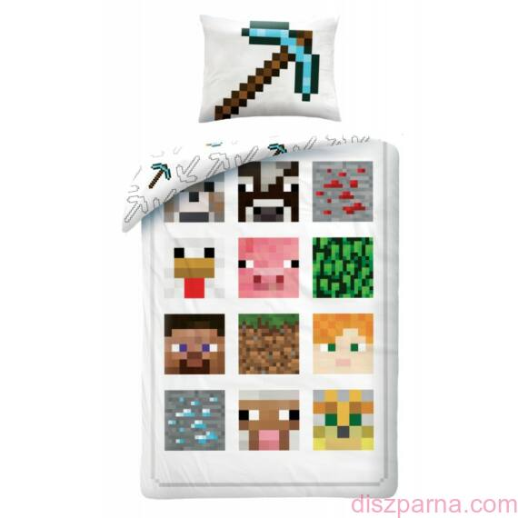Minecraft Fehér ágynemű