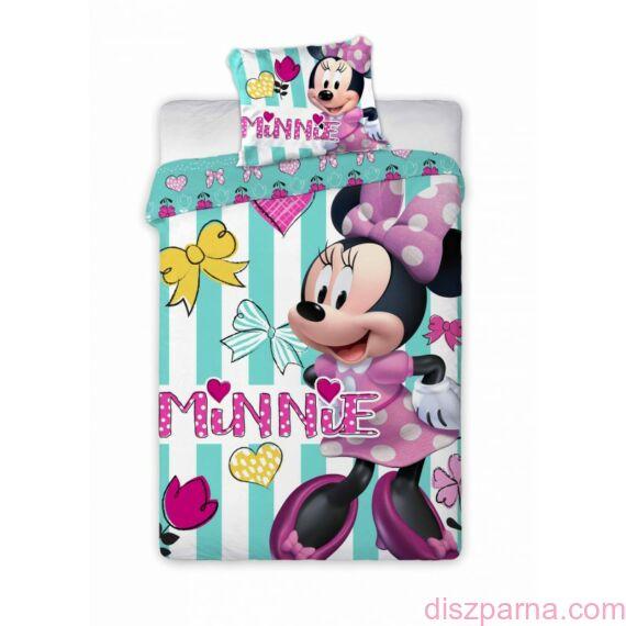 Minnie egeres Kék Csíkos Ovis ágynemű