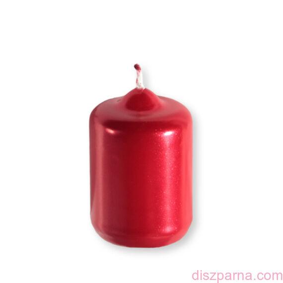 Piros metál henger adventi gyertya