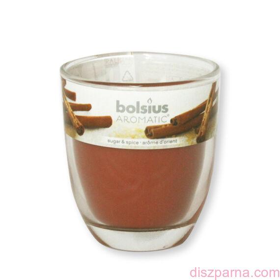 Poharas Bolsius illatmécses mézeskalács illatú