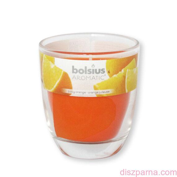 Poharas Bolsius illatmécses narancs illatú