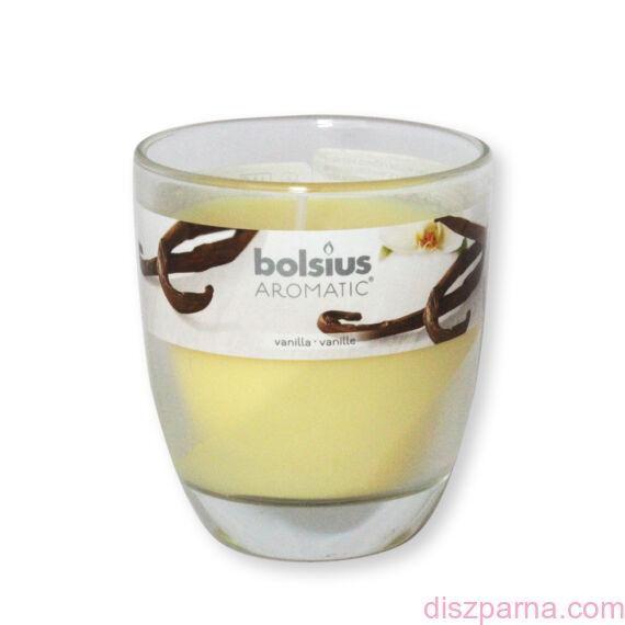 Poharas Bolsius illatmécses vanília illatú