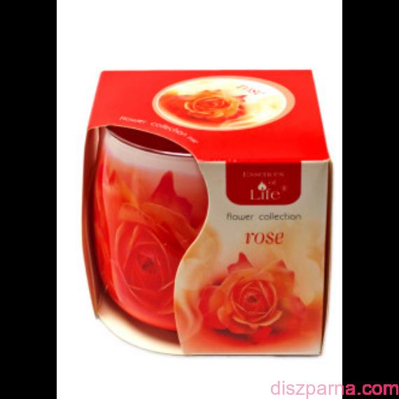 Rózsa poharas illatmécses
