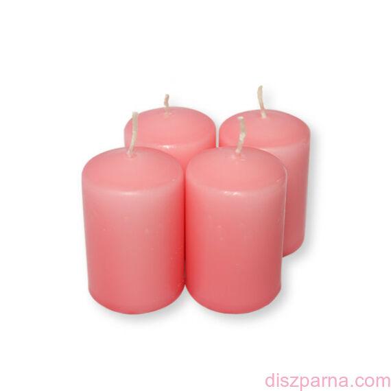 Rózsaszín adventi gyertya  4 db