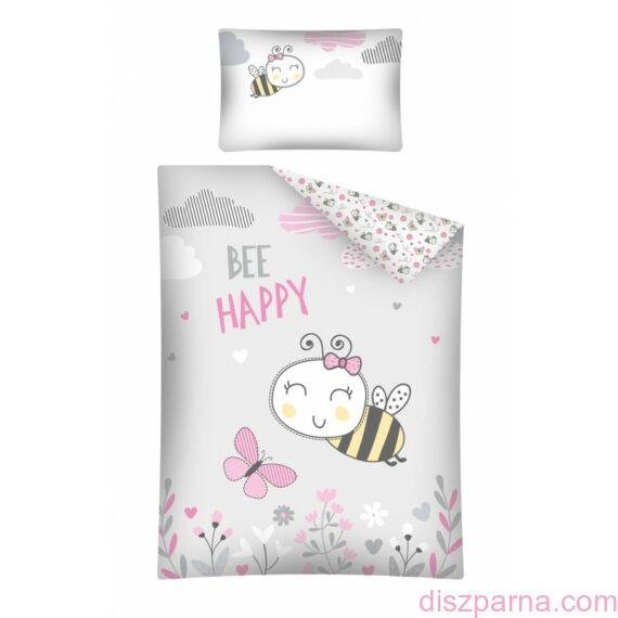Rózsaszín Méhecskés Ovis ágynemű