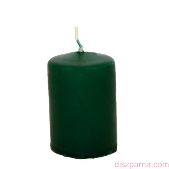 Smaragdzöld henger adventi gyertya  4 db