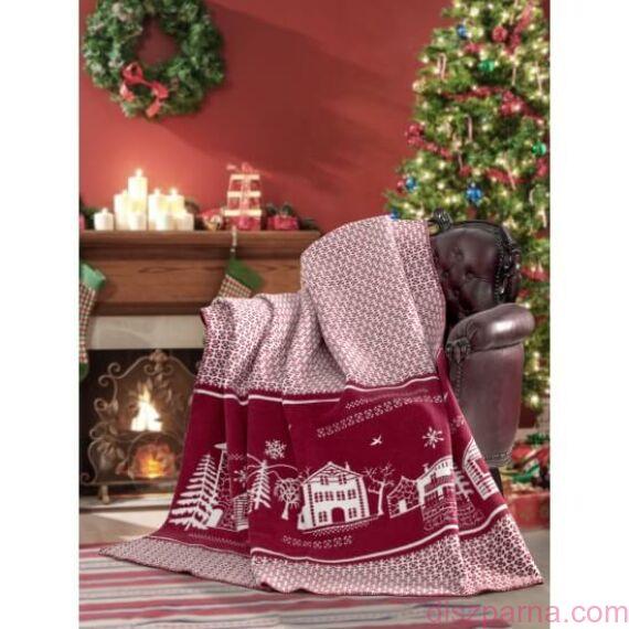 Softy vörös karácsonyi takaró