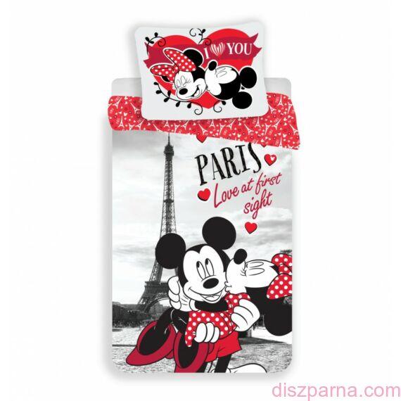 Szerelmes Minnie és Mickey egér Párizsban ágynemű
