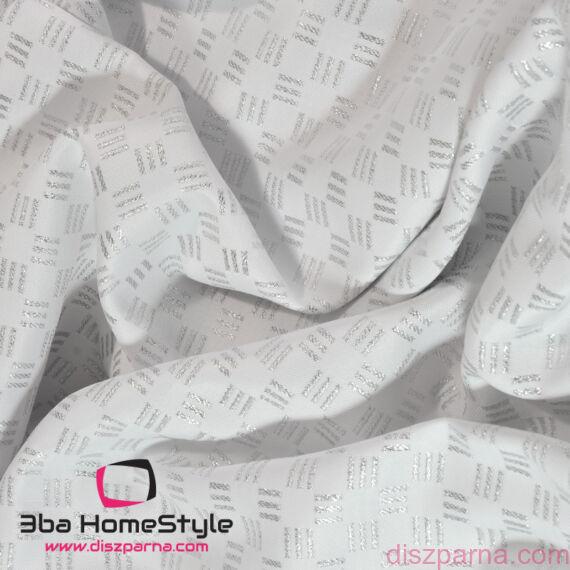 Teflonos Fehér-Ezüst asztalterítő 140x140 cm