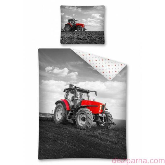 Traktoros Piros-Fekete ágynemű