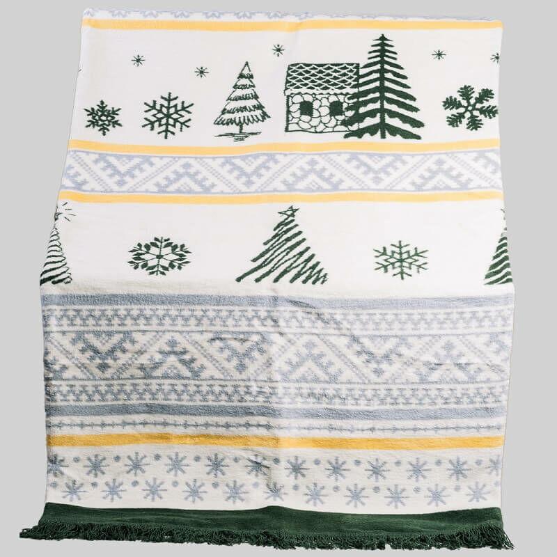 CHRISTMAS TREE KARÁCSONYI pamut-akril mintás pléd 150x200 cm -  Díszpárna.com Webáruház f252e6fb7d