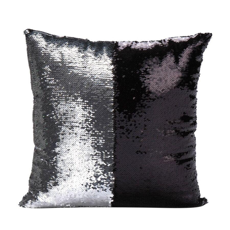 ARIEL Ezüst-Fekete sellőpárna 40x40 cm