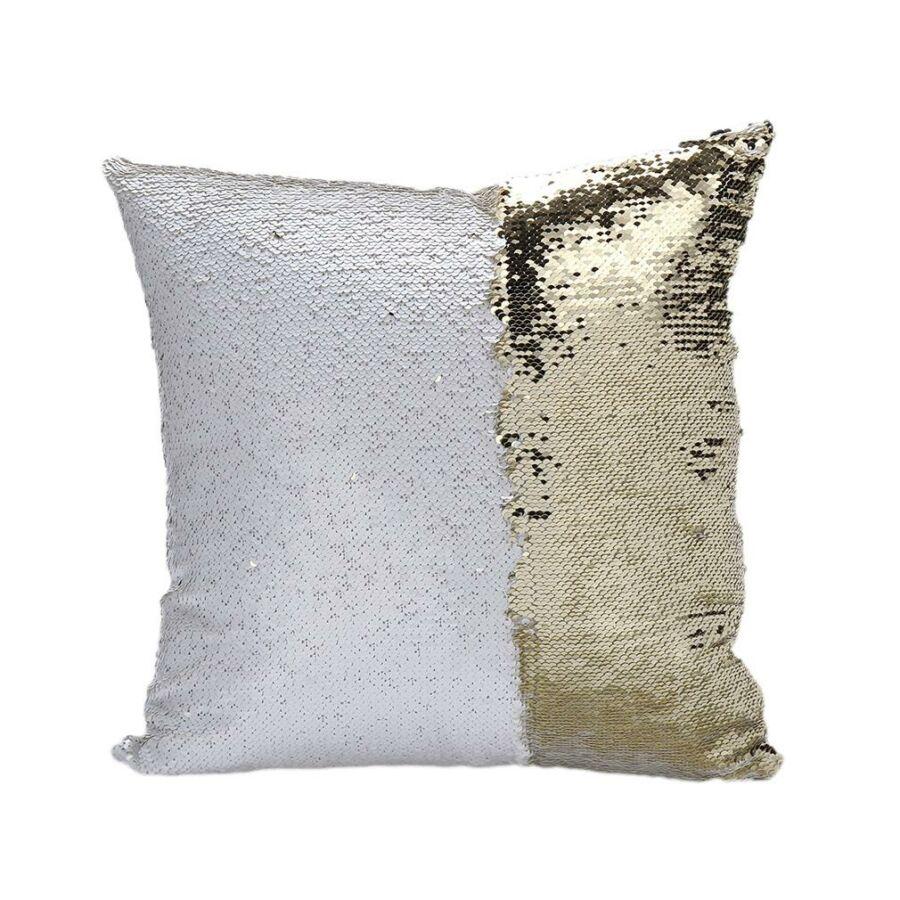 ARIEL Fehér-Arany sellőpárna 40x40 cm