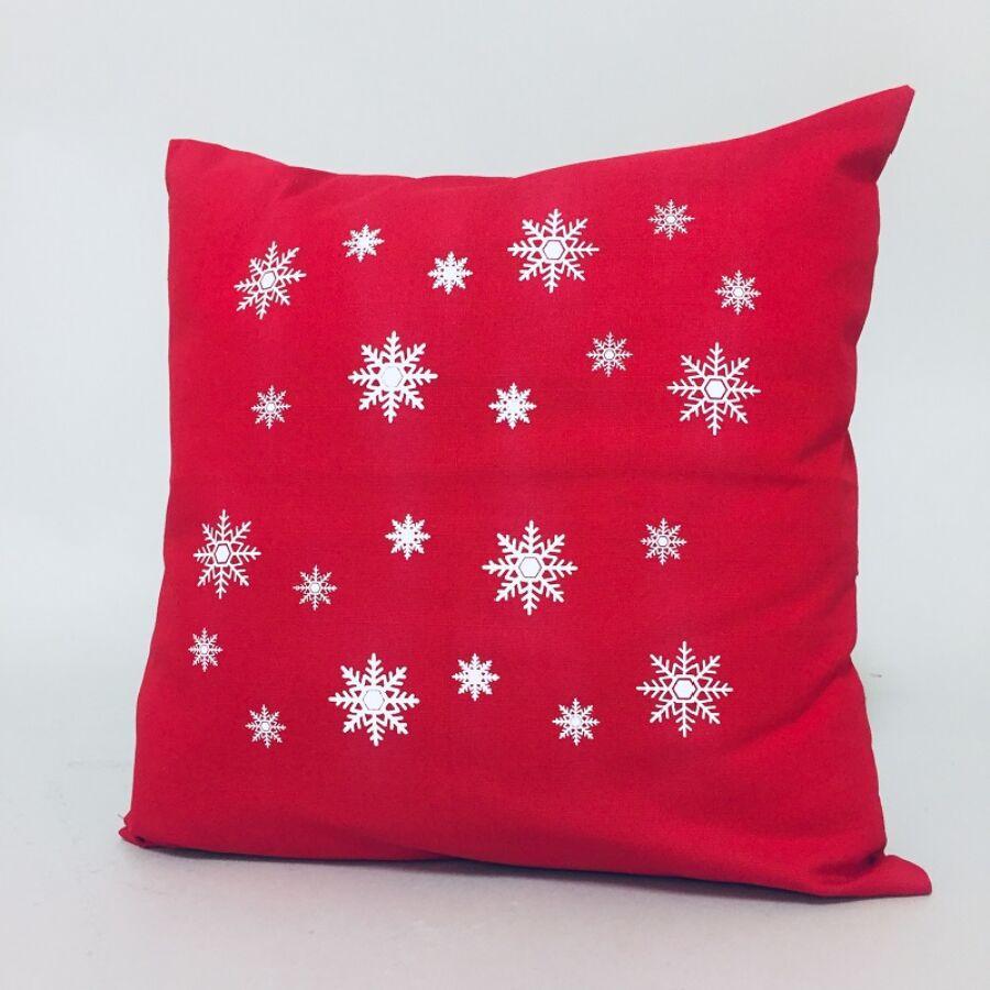 ANGEL HÓPIHE Piros karácsonyi díszpárna 40x40 cm