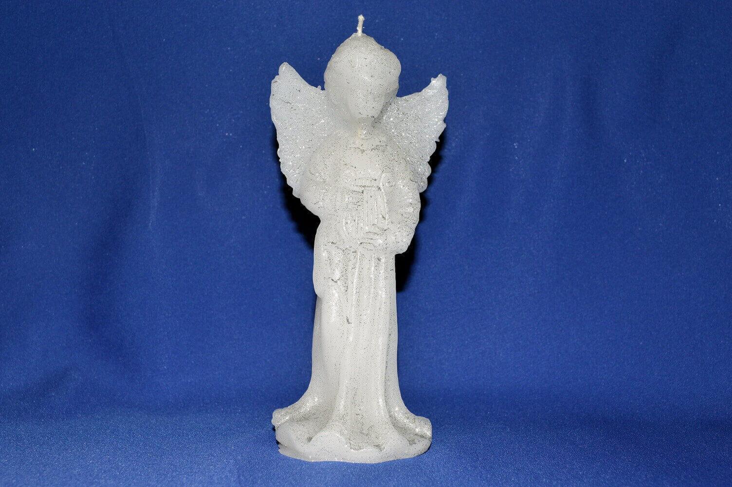ANGYAL Fehér gyertya 15 cm - Díszpárna.com Webáruház